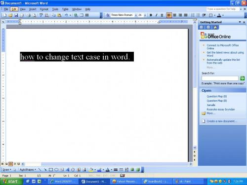 Come modificare il caso di testo in Microsoft Word
