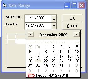 Come filtrare i record Utilizzando intervallo date in Visual Basic 6