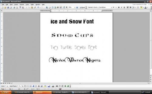 Come trovare inverno Fonts