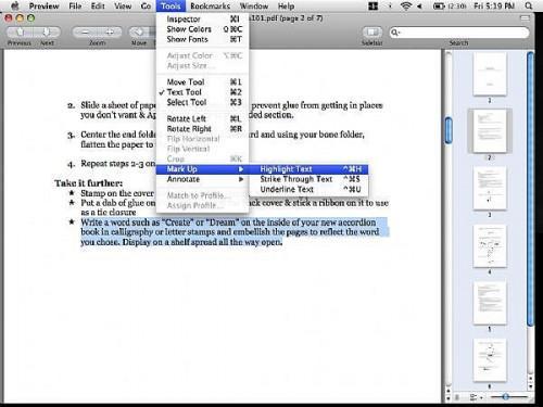Come modificare PDF con Anteprima in Mac OSX Leopard