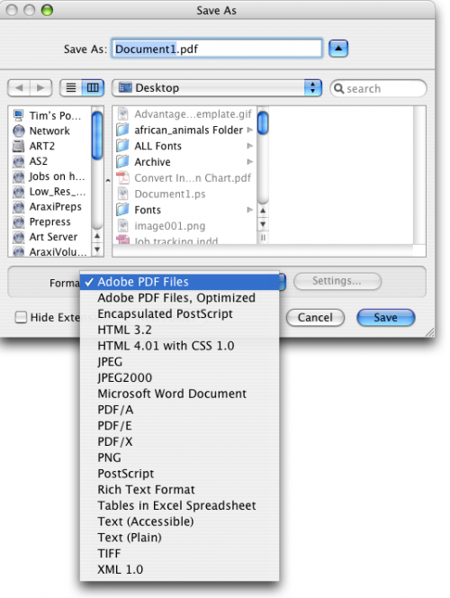 Come convertire i file in PDF PS