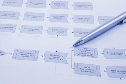 Come utilizzare i dati su un diagramma di flusso