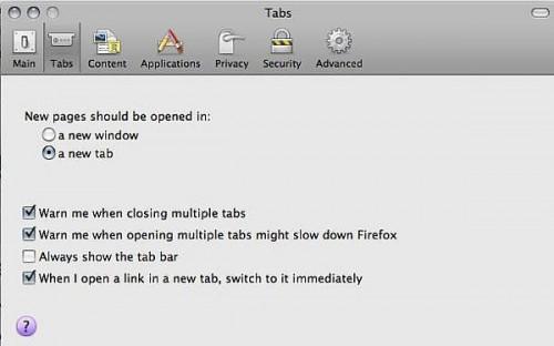 Come lavorare con schede in Firefox 3