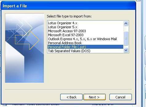 Come leggere un file PST