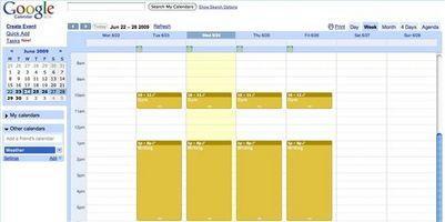 Come creare una pagina Web Calendario
