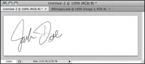 Come modificare un'immagine Per creare una firma
