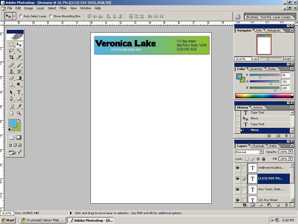 E Fare Un CV In Adobe Shop Myclads