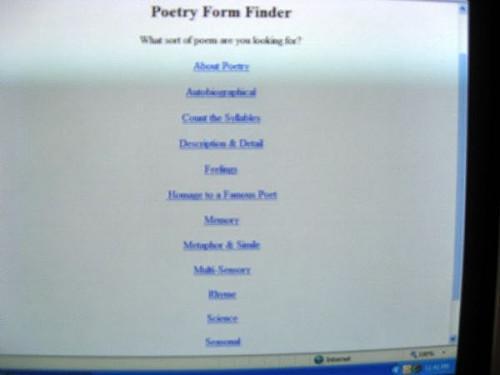Come creare Poesia Utilizzo di moduli online