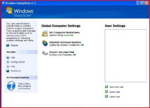 Come utilizzare Windows SteadyState per proteggere il computer